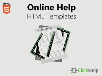 Online Help HTML Templates - Free Download