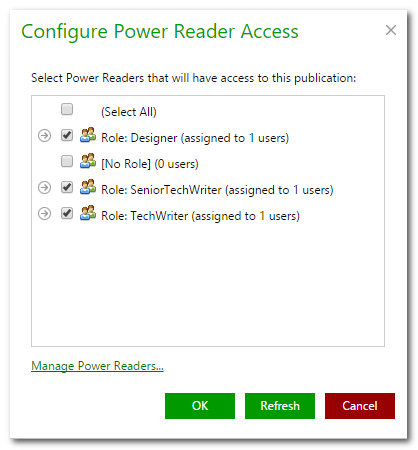 Adding Power Readers to Publication