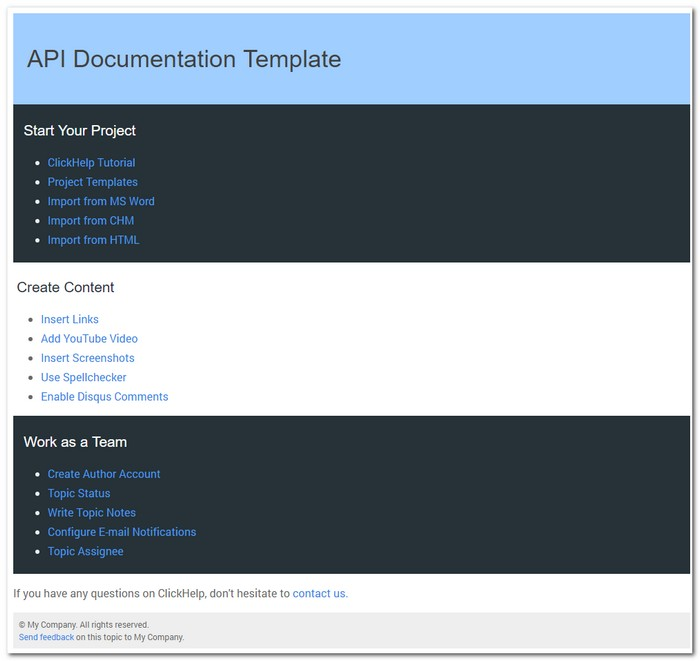 6 tips for online documentation design technical writing for Api document template