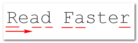 Serif fonts allow you to read faster