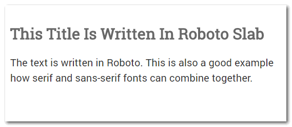 Using fonts from the same designer