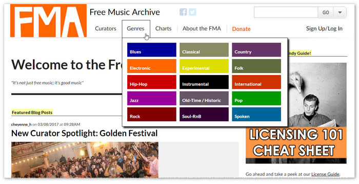 The Free Music Archive