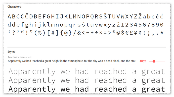 Top 6 Monospaced Fonts Overview | Technical Writing Blog