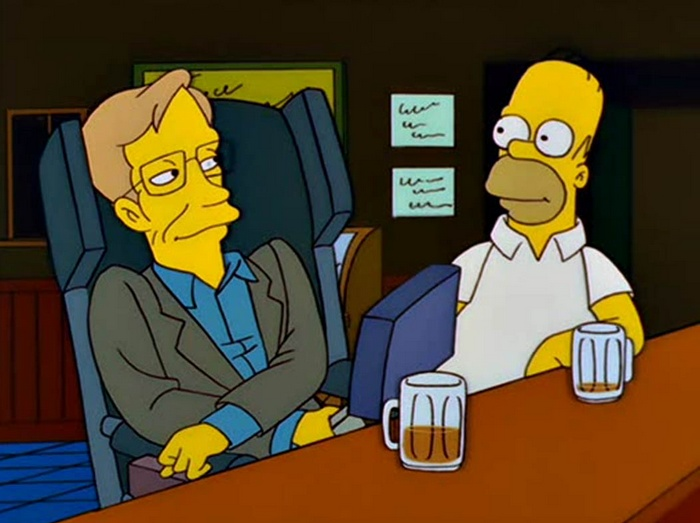 Stephen Hawking in The Simpsons