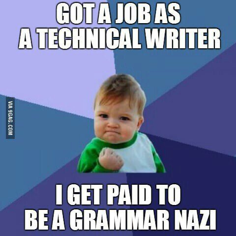 Get paid to be a grammar nazi