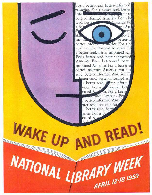 National Library Week poster, April, 1959